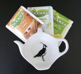 Tea bag / tea tip holder lapwing
