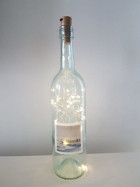 flessen lamp met led verlichting (winter)