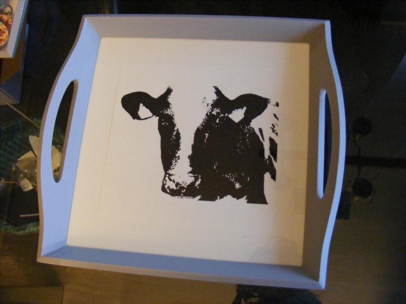 Dienblad koe (groot)
