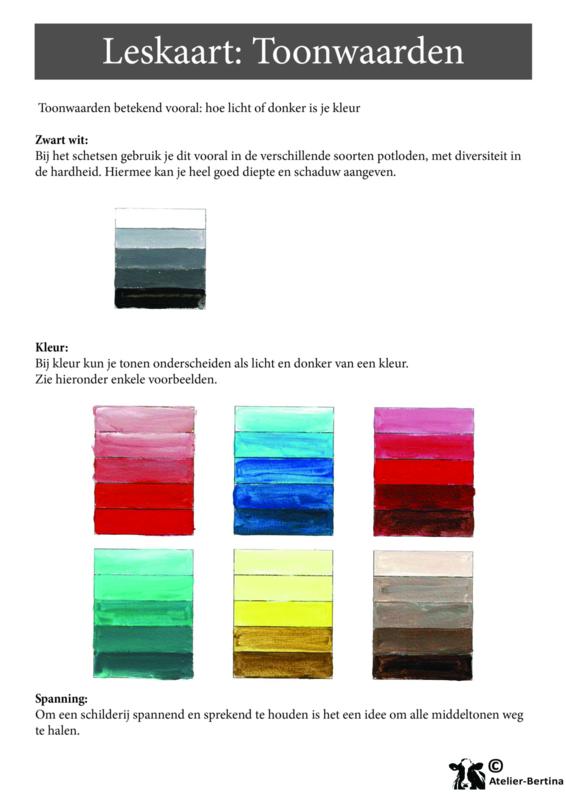 Stap voor stap tutorial: Kleur tonen maken met acrylverf