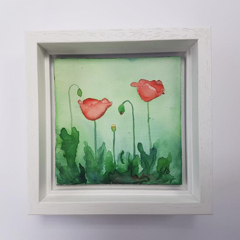 Klaprozen / Poppies: Mini aquarel
