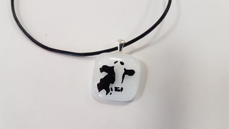 Cow glass pendant necklace atelier bertina