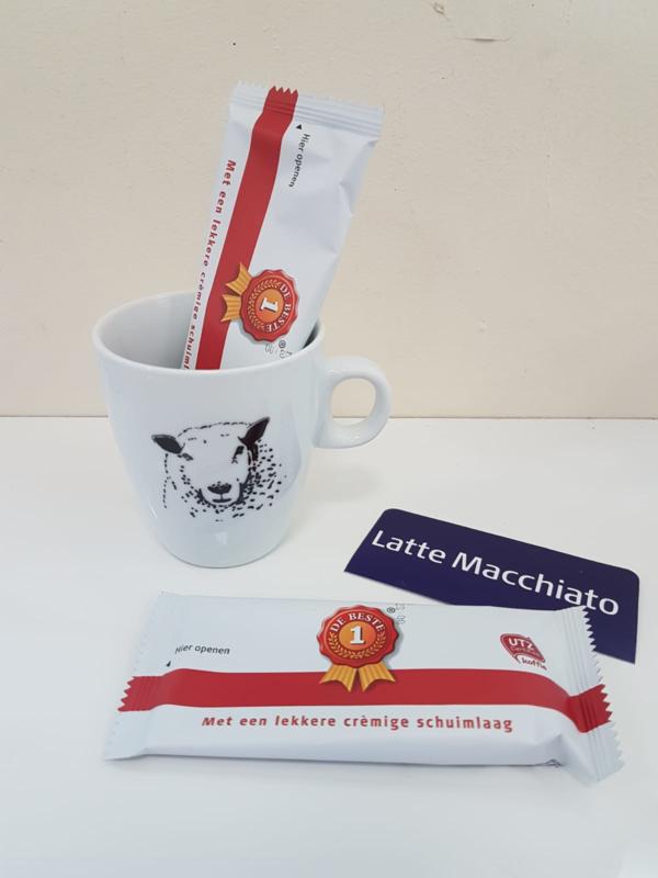 Verwenmoment: schapen mok met Latte Macchiato