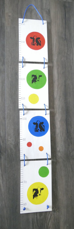 Measuring rod for the nursery cow
