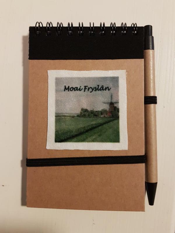 Notitie boekje molen (Moai Fryslân)