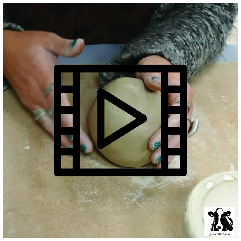 les live /tutorial keramiek: holle bol maken in mal