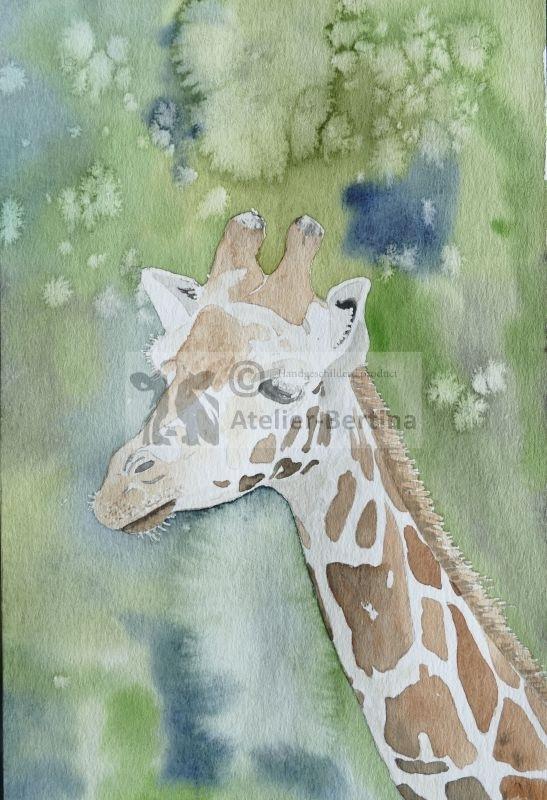 Giraffe Aquarell