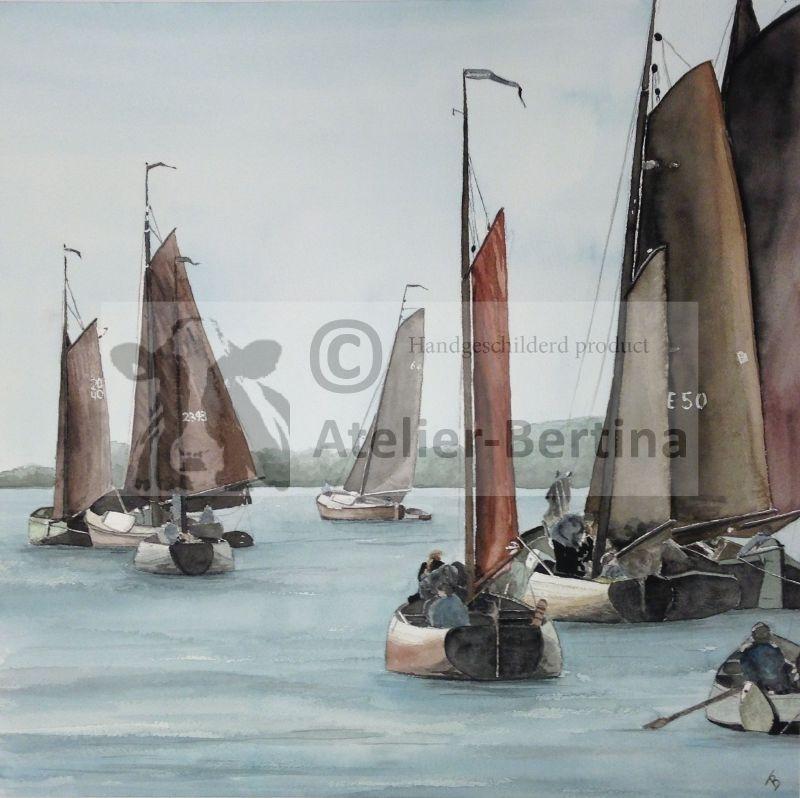 Srontrace aquarel schilderij