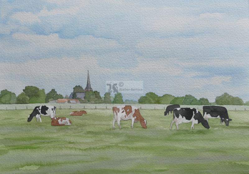 Koeien  tuinposter