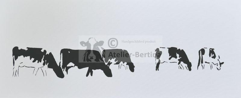 Koeien landschap acryl schilderij