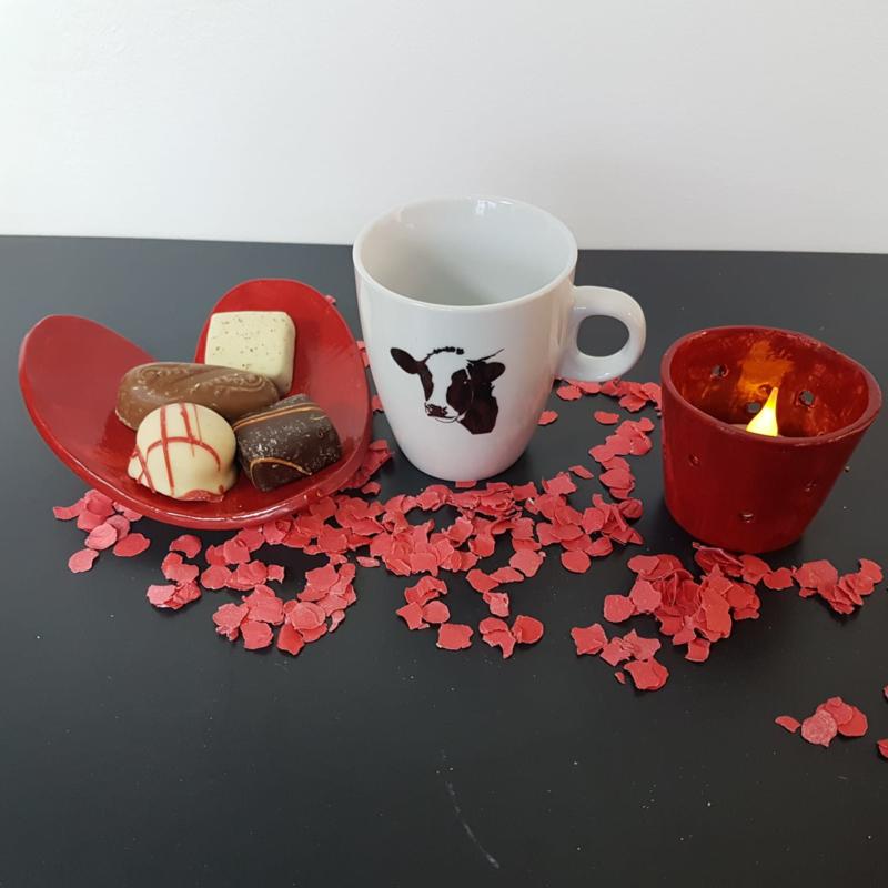 Valentijns cadeau koe