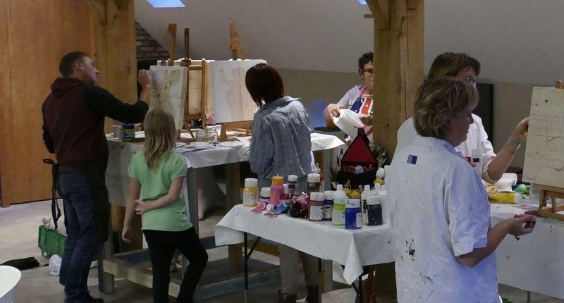 Resultaten: 15 september 2015 individuele opgave workshop schilderen bij de Maathoeve