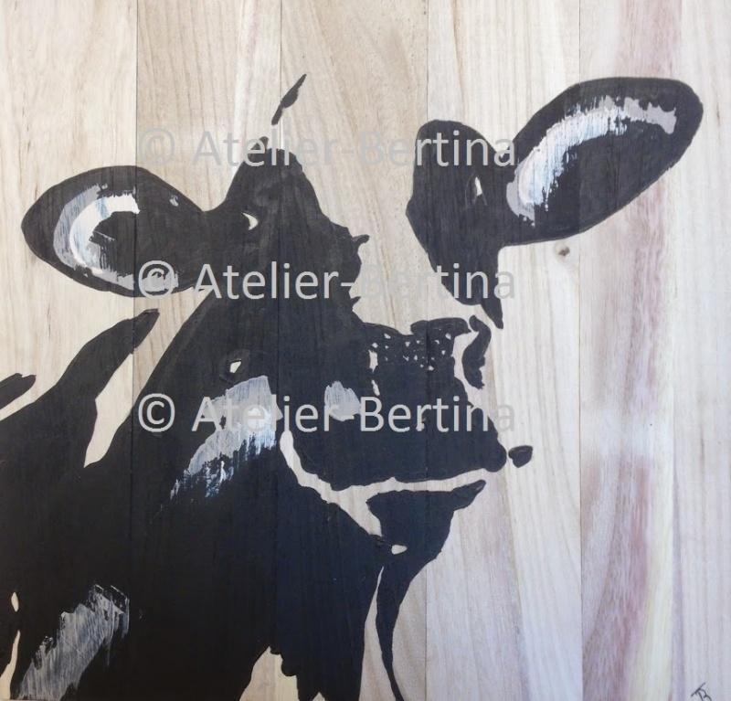 Beste Koe acryl schilderij op hout | Acryl schilderijen 3D canvas SQ-75