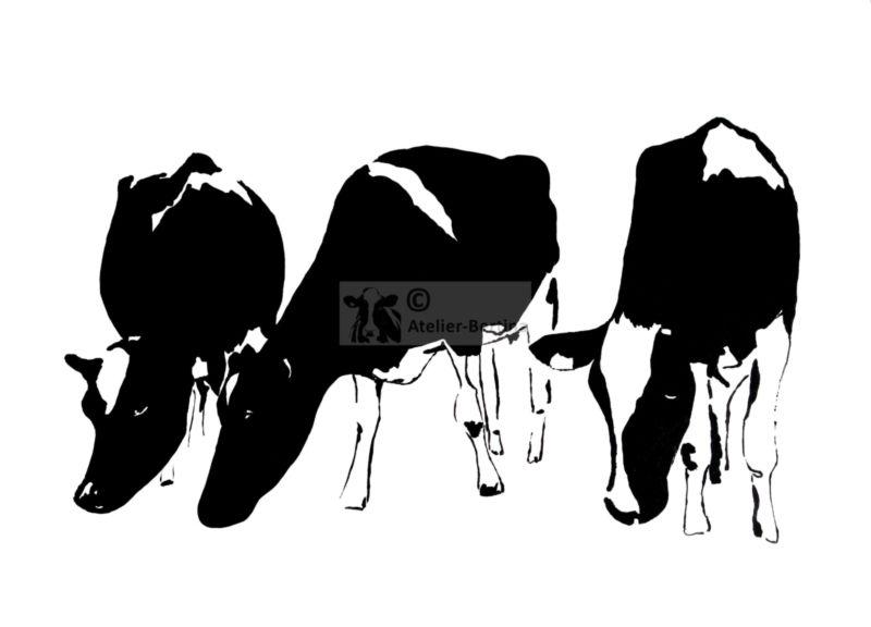 Koeien acryl schilderij