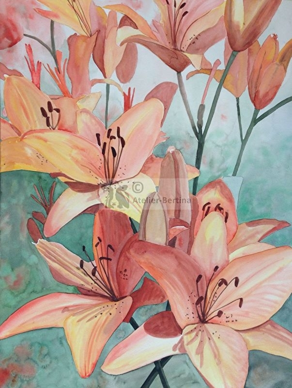 lily watercolor watercolor painting