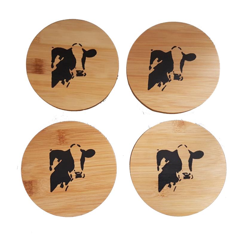 4 x coaster cow