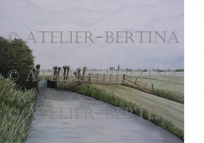 Fries landschap tuinposter
