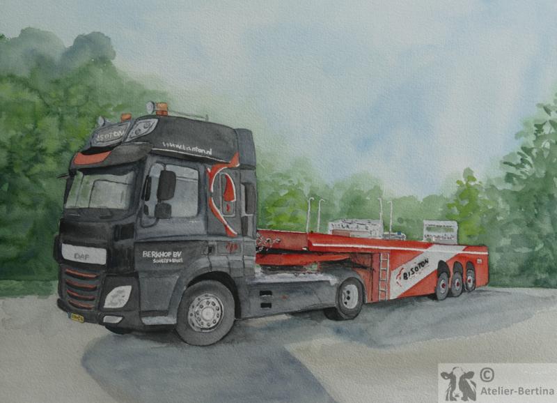 Opdracht: Vrachtauto schilderij