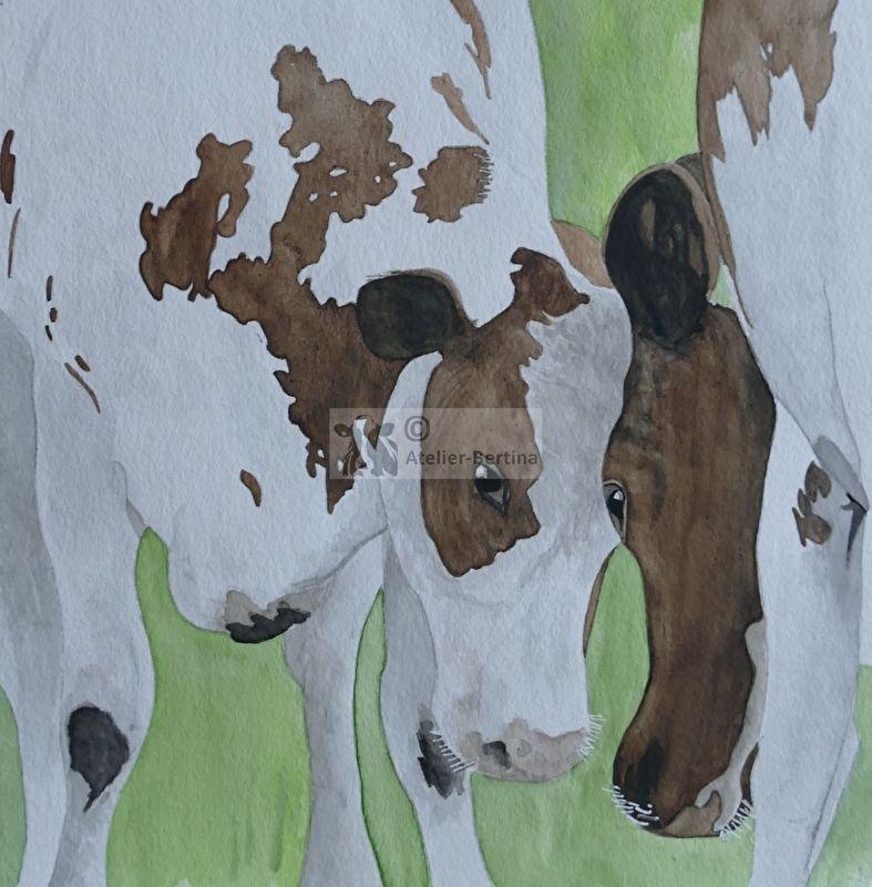 Kühe-Aquarell