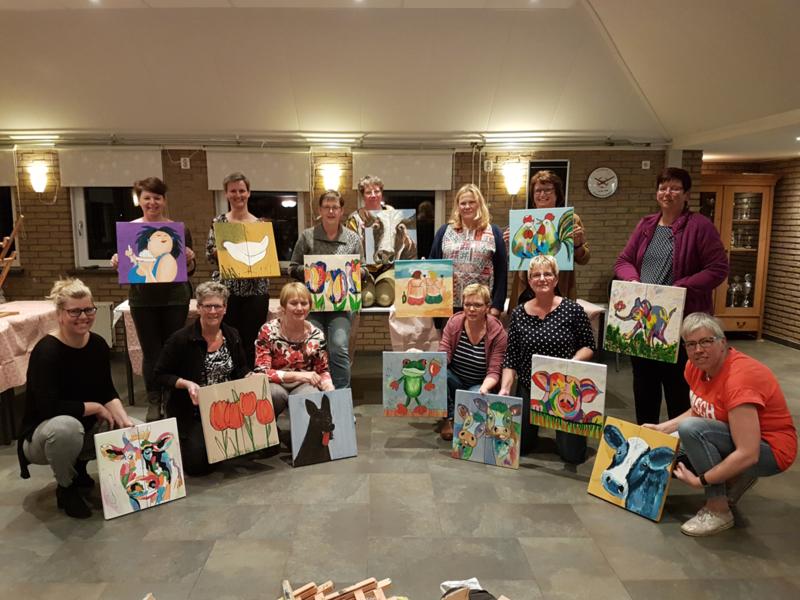Resultaten: workshop schilderen buurthuis 2019