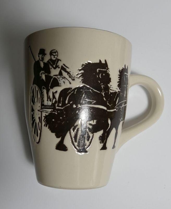 Friesian horses and chaise mug