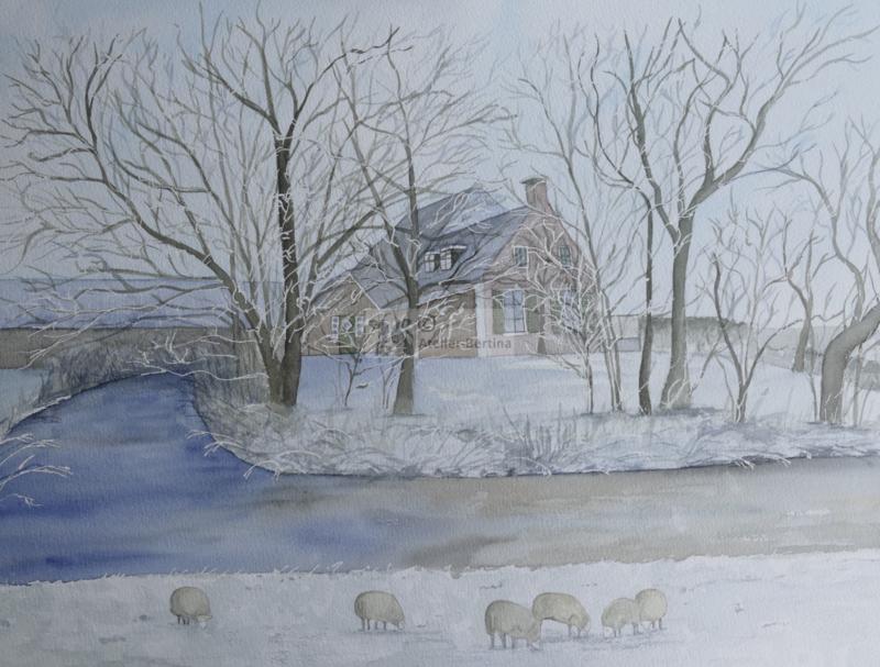 Boerderij in de winter