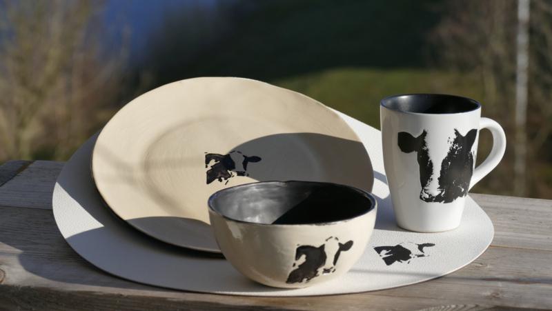 Koeien servies pakket voor 1 persoon