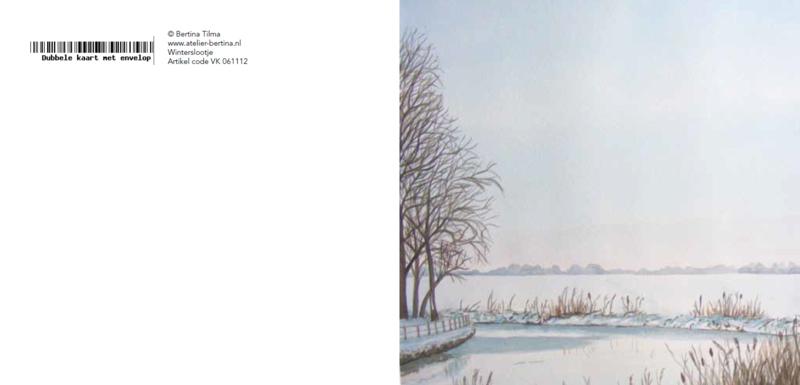 winter landschap wenskaart