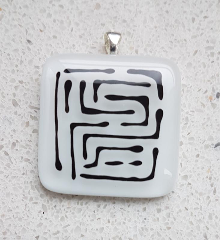 glass pendant necklace atelier bertina