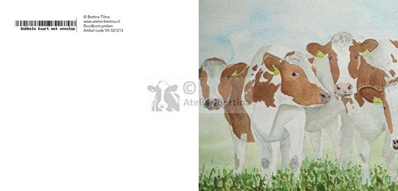 roodbond koeien wenskaart