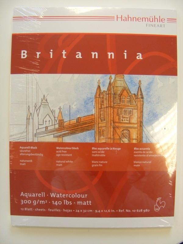 Aquarel papier 300 grams bloc aq.papier Brittannia 42 x 56 cm