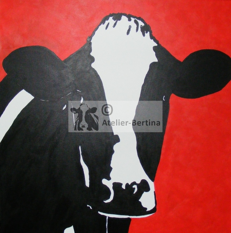 Koe acryl schilderijen