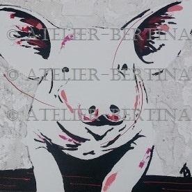 Schweine acrylmalerei