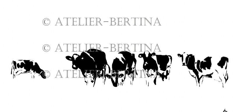 Grazende koeien acryl 2013
