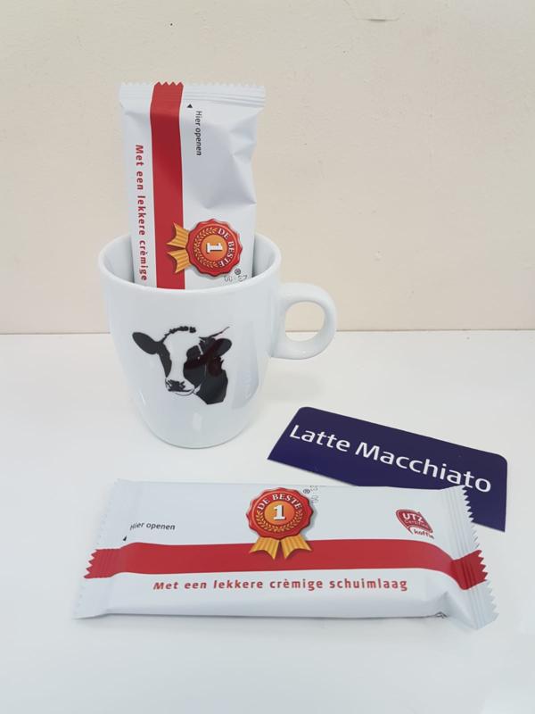 Verwenmoment: koeien mok met Latte Macchiato