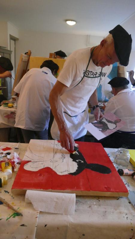 Resultaten 29 oktober 2016 workshop schilderen op locatie