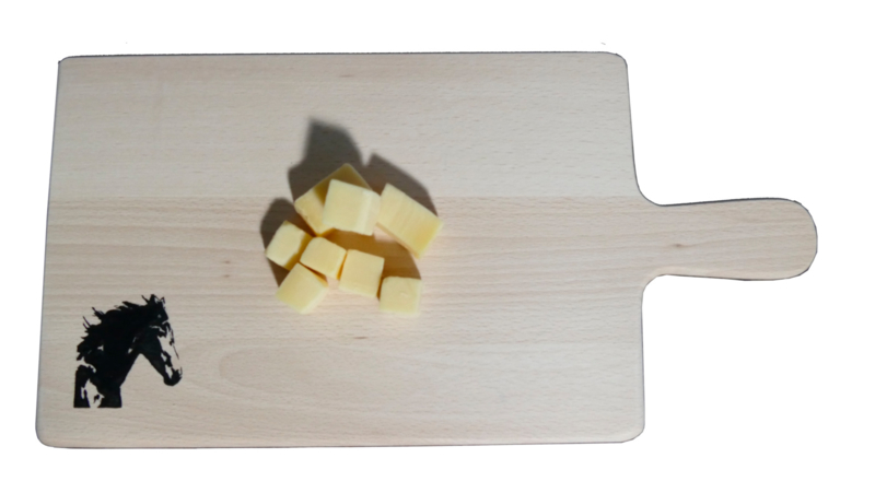 Horses bread board / cheese board straight.