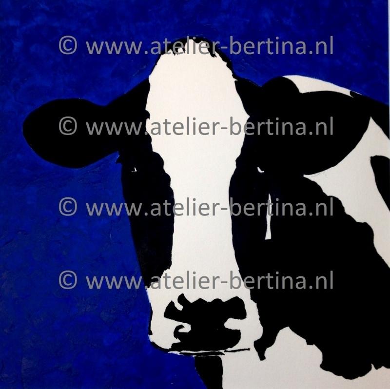 Acryl schilderij: blauw 2013