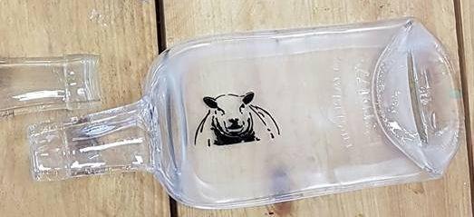 Schapen kaasplankje van plat gesmolten fles