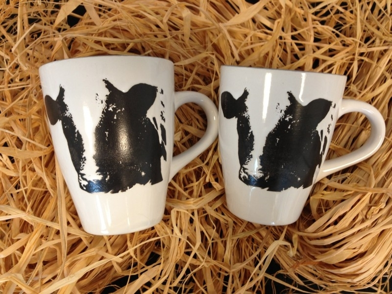 Mug with cow (2 pieces in luxury packaging)