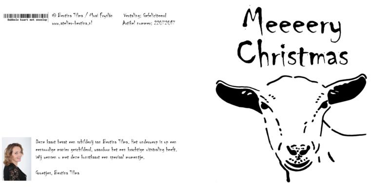 wenskaart: Meeeery Christmas