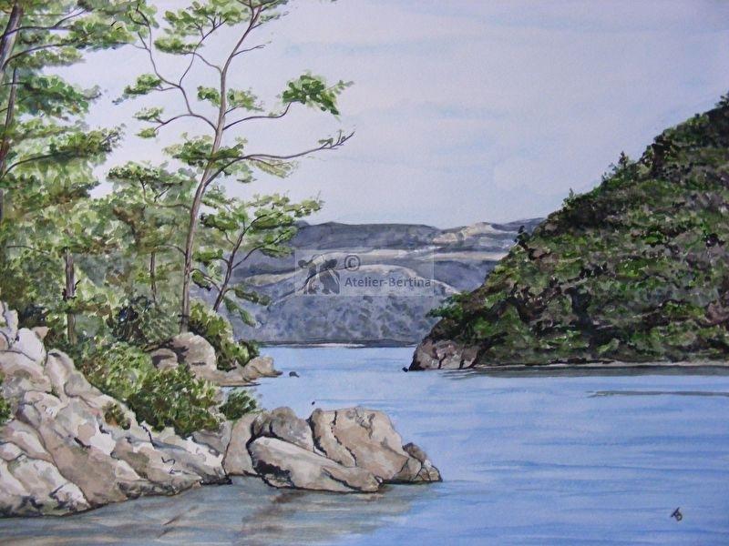 Landschafts Aquarell malerei