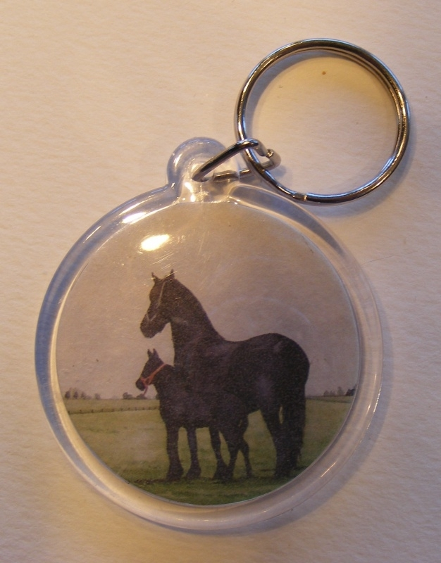 sleutelhanger paard (rond)