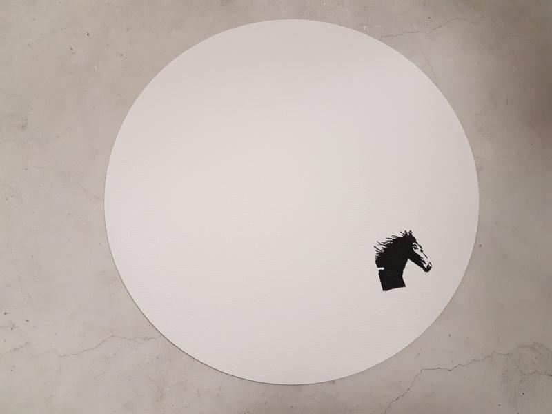 Placemat rond met paard
