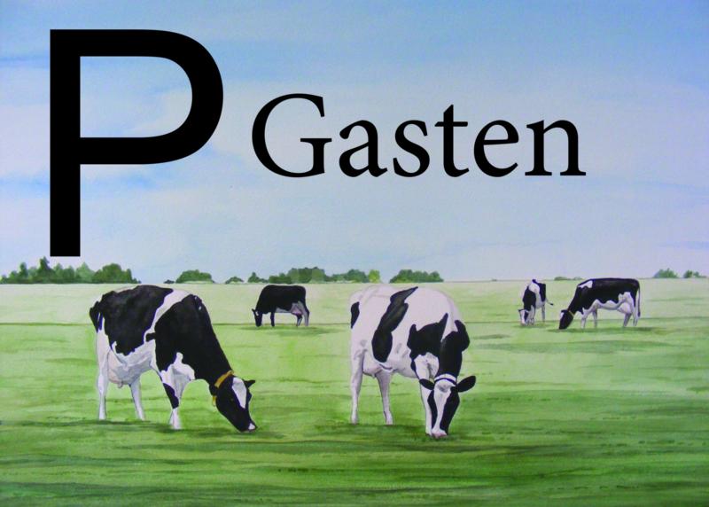 Parkeer bordje gasten:  koe