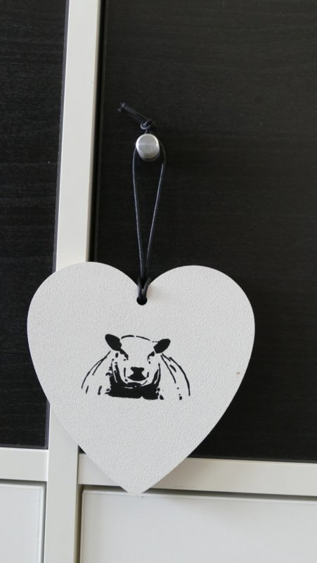 Heart with sheep