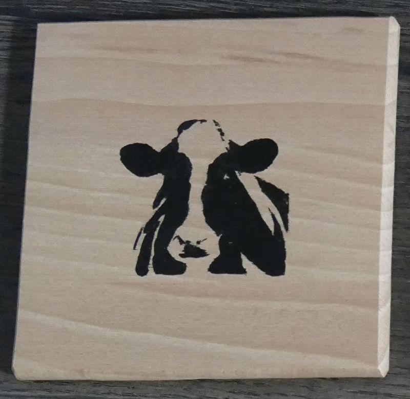 Cow span wood coasters.