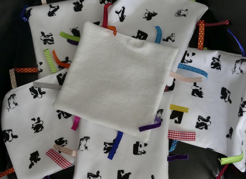 Label Tuch der Kühe (weicher Stoff hinten)