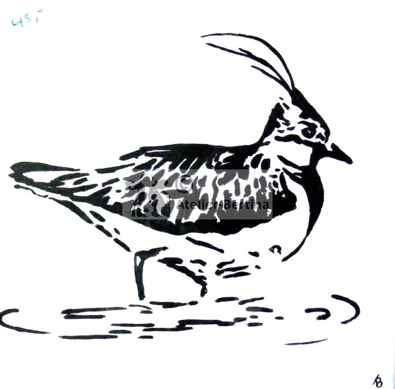 Vögel Acrylmalerei.