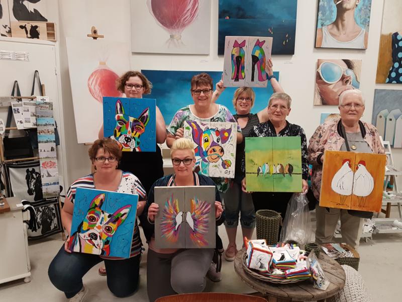 Resultaten: 12 mei 2018  workshop schilderen op Waag10